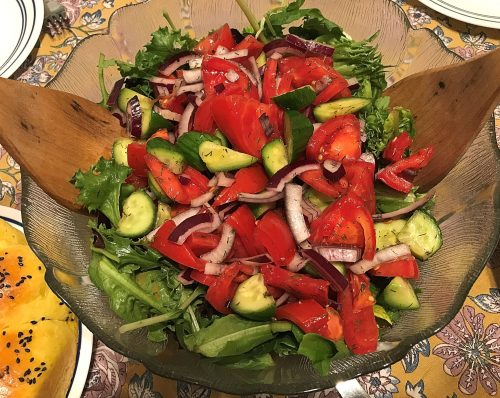 Karl's Central Asian Tomato and Cucumber Salad with Lemon Dill Vinaigrette