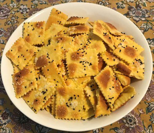 Karl's Saffron Challah Crackers
