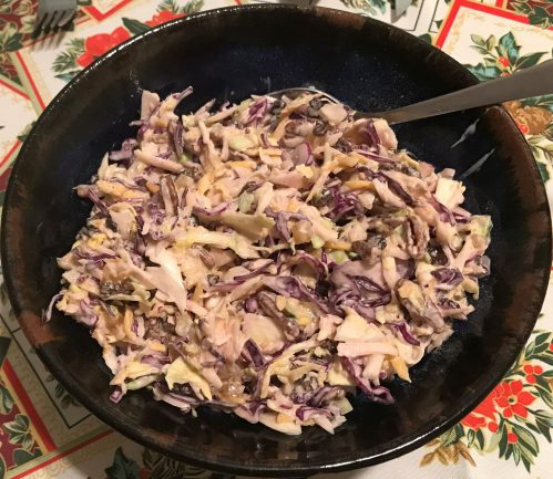 Karl's Colorful Coleslaw with Pecans and Crystallized Ginger