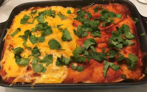 Karl's Mexican Lasagna (Chicken Enchilada Casserole)