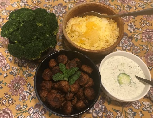 Karl's Chelow Koobideh with Mint Yogurt