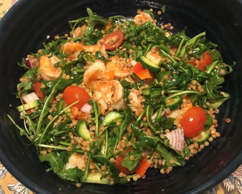 Karl's Israeli Couscous with Lemon Garlic Shrimp