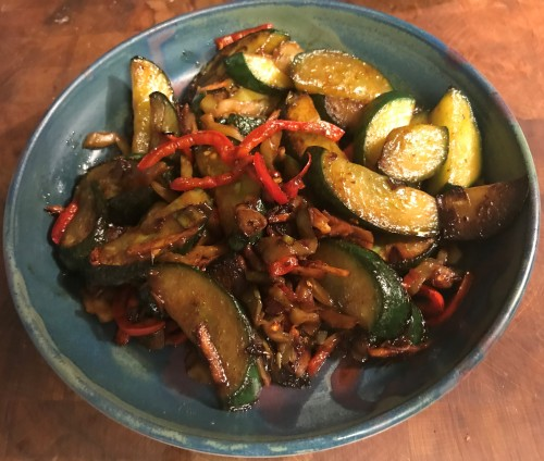 Karl's Sichuan Stir Fried Cucumbers
