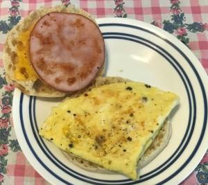 Assembling Karl's Egg McDad's Muffin