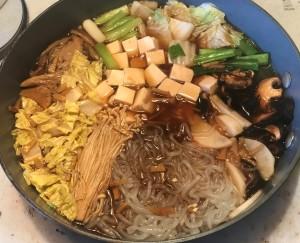 Karl's Noom Friendly Vegan Sukiyaki ready to serve
