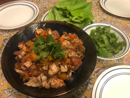 Karl's Pride Grilled Seafood Lettuce Wraps